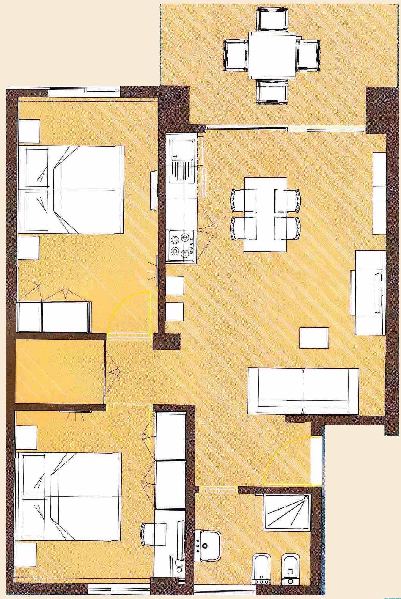 Apartment - C floor plan