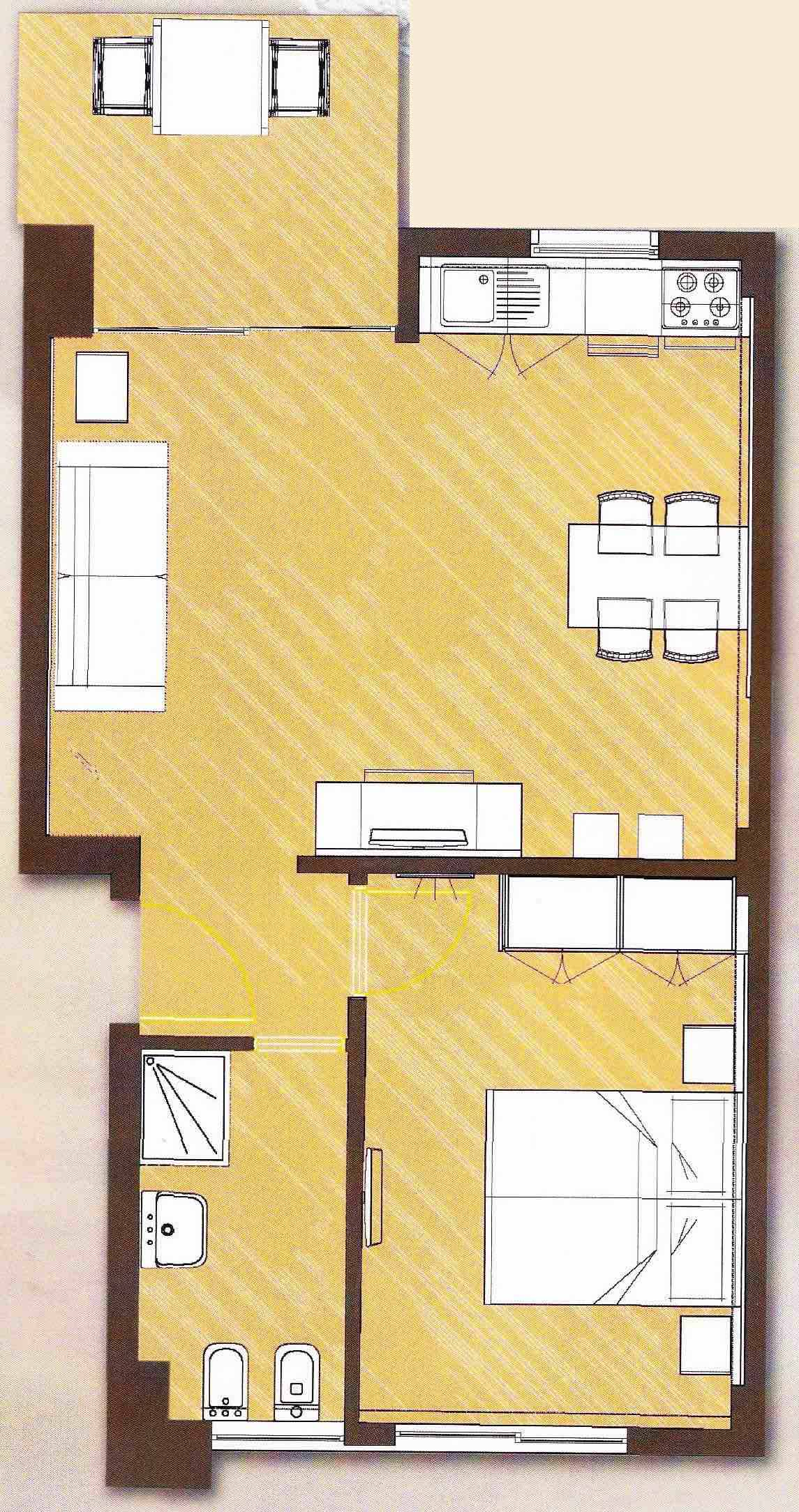 Apatment - B floor plan