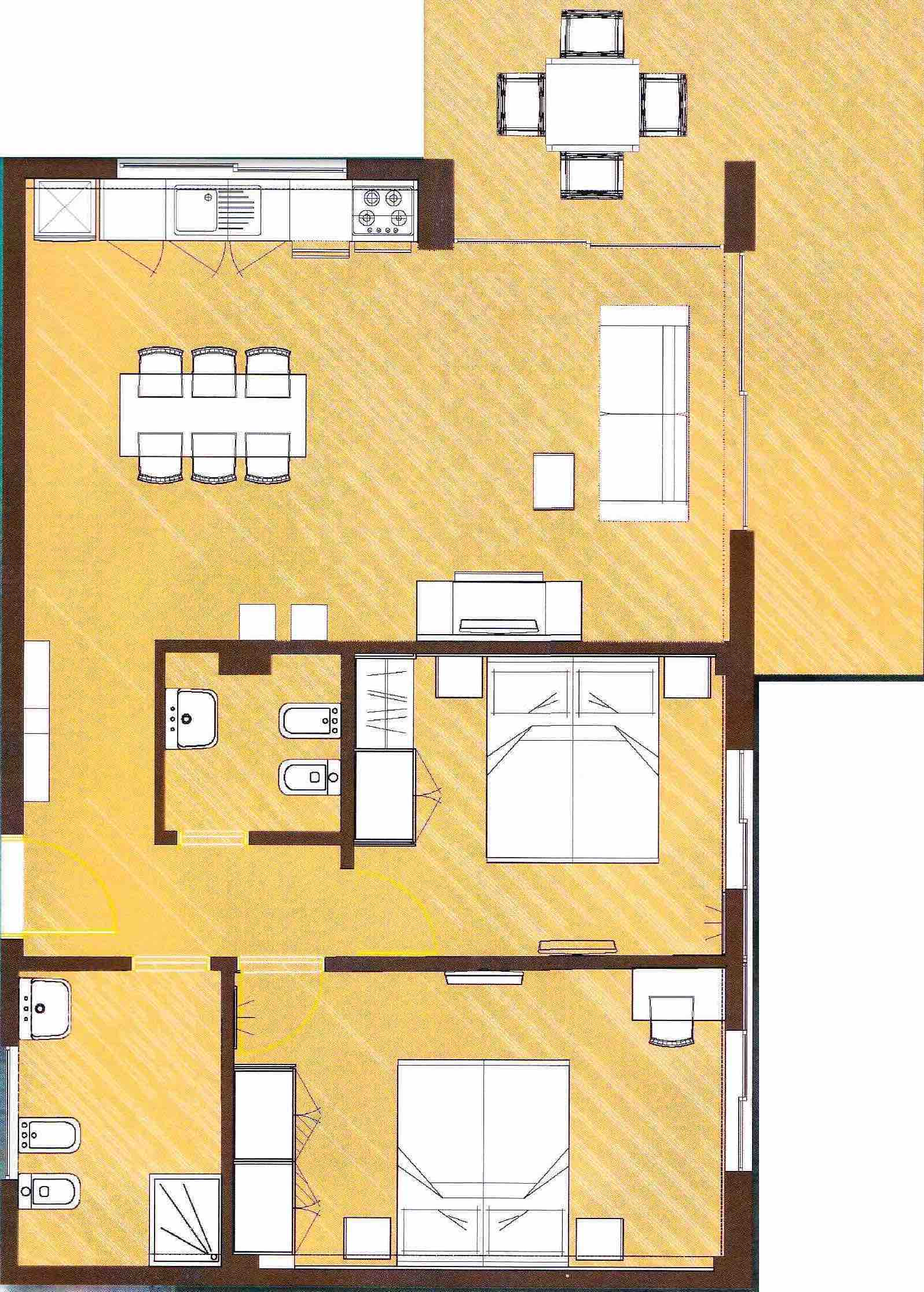 Apartment - D floor plan
